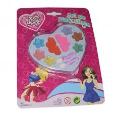 dc121f6c5ad1 Set de maquillaje infantil envase corazón en blister 24 x 18 cm aprox