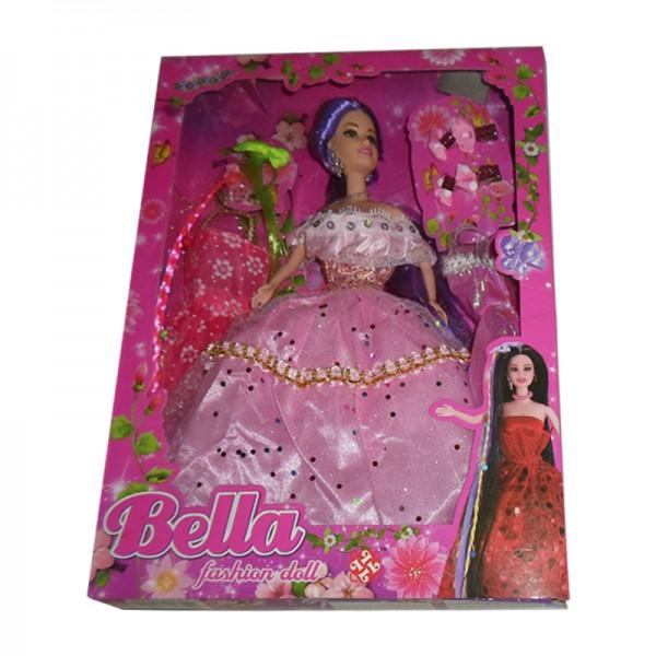Muñeca Bella Fiesta con dos vestidos + accesorios